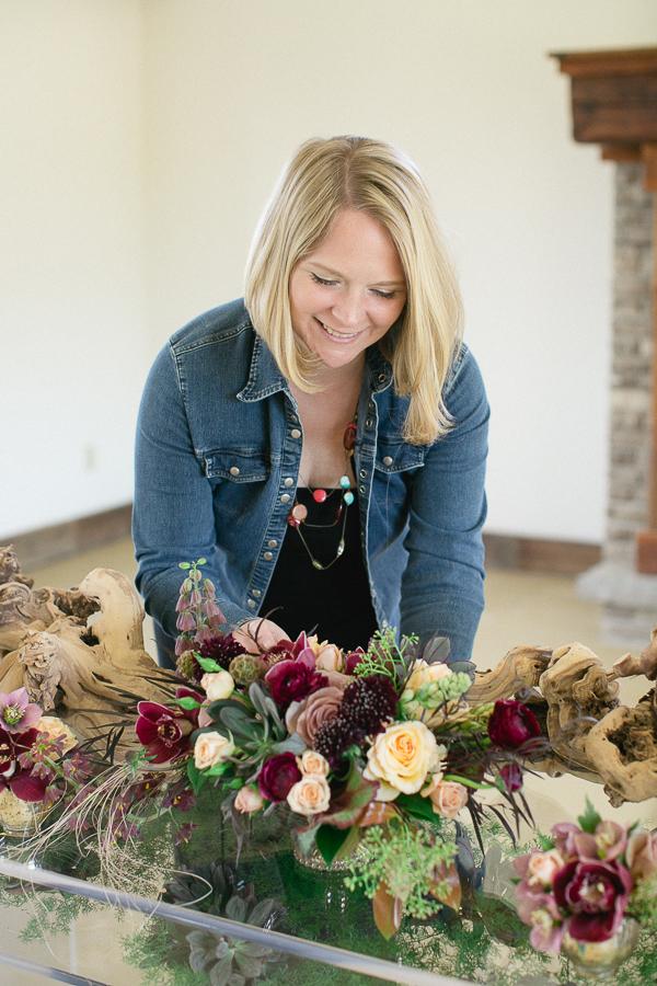 Lush Florals, Cave Springs Vineyards, Niagara wedding Florist, marsala wedding